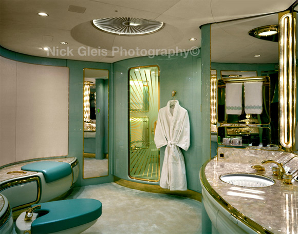 bathroom private jet Photos From The Inside Of Most Luxurious Private Jets