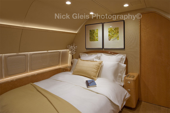 bed in private jet Photos From The Inside Of Most Luxurious Private Jets