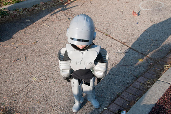 robo kid Two Year Old Robocop Is The Star Of Halloween