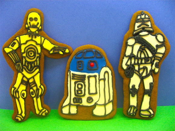 c3po r2d2 gingeerbread Geeks Know How To Make Gingerbread