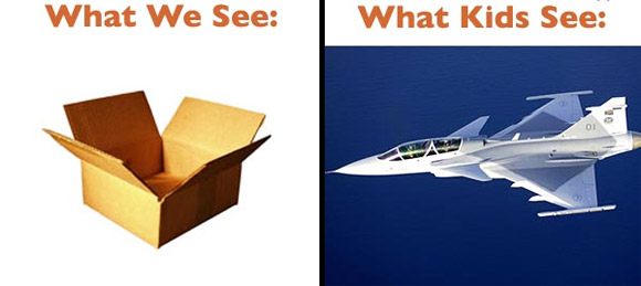 adult kid box airplane The Big Difference Between Adults And Children