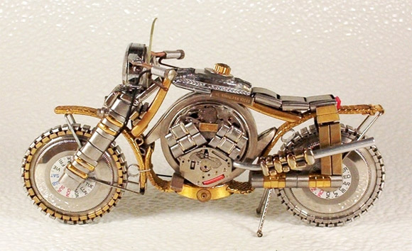 motorcycle rolex1 Mini Bikes And Vehicles Made From Watches
