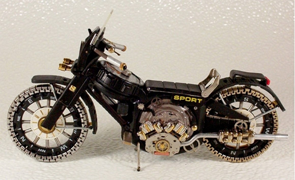 sport watch motorcycle1 Mini Bikes And Vehicles Made From Watches