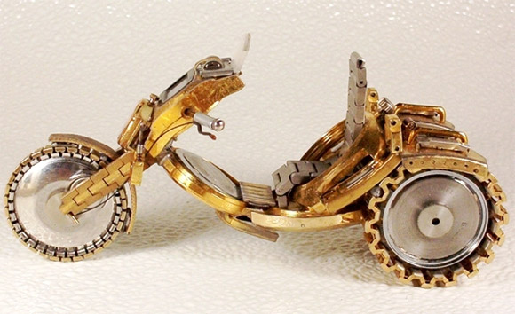 watch motor rough1 Mini Bikes And Vehicles Made From Watches