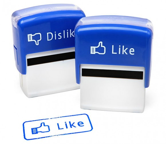 like dislike stamp set facebook 580x501 Like and Dislike Stamps With Facebook Touch