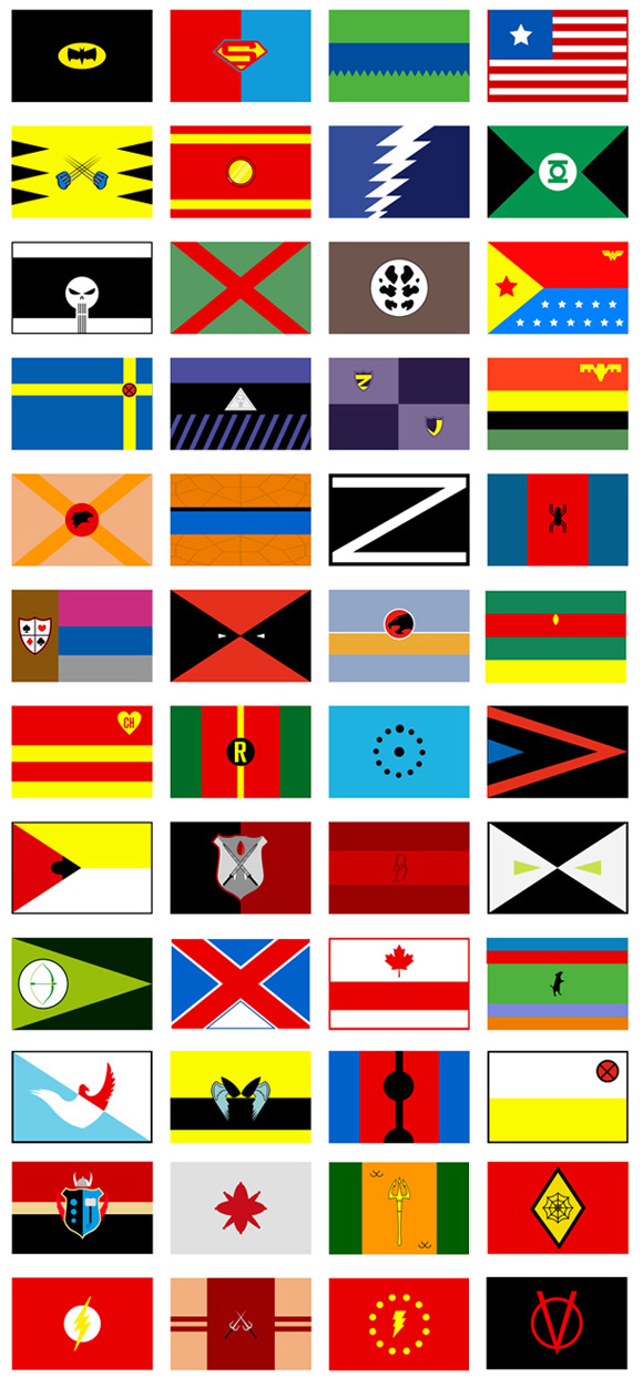 superhero-flags