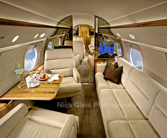 inside private jet chairs Photos From The Inside Of Most Luxurious Private Jets