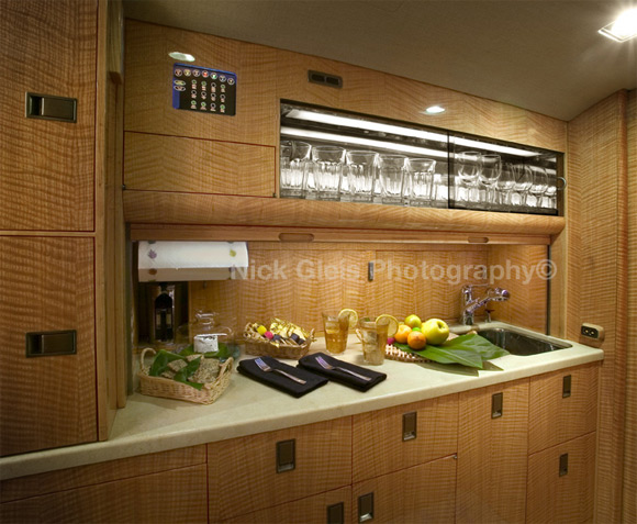 private jet kitchen2 Photos From The Inside Of Most Luxurious Private Jets