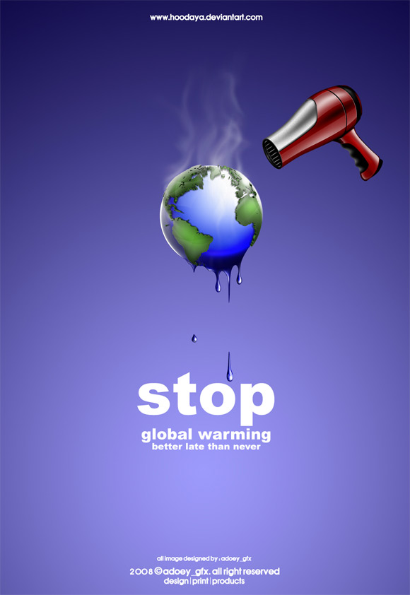 global warming ad3 Clever And Cool Global Warming Illustrations
