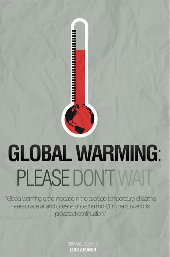 global warming ad4 Clever And Cool Global Warming Illustrations