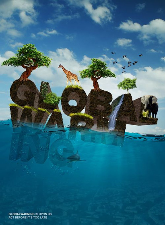 global warming ad5 Clever And Cool Global Warming Illustrations