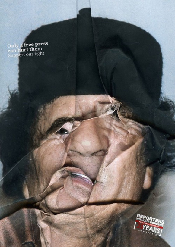 reporters without borders 2 Ads With Scrunched Faces For Freedom Of Press